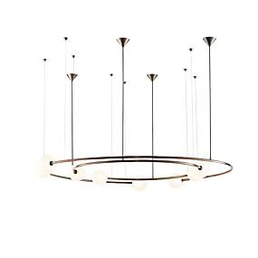 billige Hengelamper-ZHISHU 8-Light geometriske / Industriell / Originale Anheng Lys Omgivelseslys Malte Finishes Metall Glass Nytt Design 110-120V / 220-240V Varm Hvit / Hvit