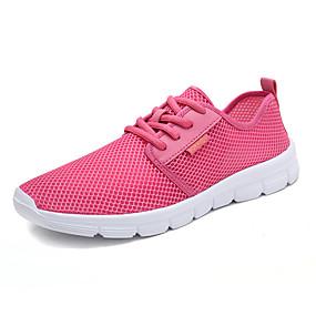 baratos Tênis Masculino-Homens Sapatos Confortáveis Com Transparência Primavera Verão / Outono & inverno Tênis Preto / Cinzento / Rosa claro