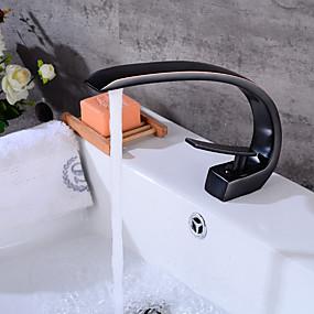 billige Ugentlige tilbud-Baderom Sink Tappekran - Touch / ikke-touch Olje-gnidd Bronse Bolleservant Et Hull / Enkelt Håndtak Et HullBath Taps