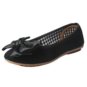 voordelige Damesinstappers & loafers-Dames Loafers & Slip-Ons Platte hak Suède Zomer Grijs / Rood / Groen