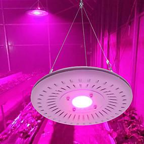 abordables Lampe de croissance LED-AcStar 1 set 50 W 950 lm 1 Perles LED Spectre complet Pour Greenhouse Hydroponic Luminaire croissant Violet 220 V 110 V Serre de légumes