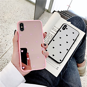 cheap iPhone Cases-Case For Apple iPhone XS / iPhone 6 Mirror Back Cover Heart Hard PC for iPhone XS / iPhone X / iPhone 8 Plus