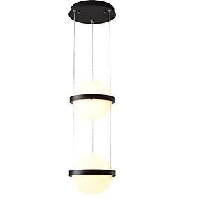 abordables Plafonniers-ZHISHU 2 lumières Spoutnik / Globe Lampe suspendue Lumière d'ambiance Finitions Peintes Métal Verre Design nouveau, Contrôle WIFI, Tricolore 110-120V / 220-240V Blanc / Blanc chaud + blanc / Wi-Fi