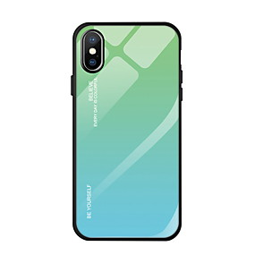 cheap iPhone Cases-Case For Apple iPhone XS Max / iPhone 6 Mirror Back Cover Color Gradient Hard Tempered Glass for iPhone XS / iPhone XR / iPhone XS Max