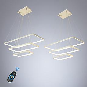 billige Hengelamper-ecolight 2 stk / lot led100w lineær anheng lys omgivende lys til spisesal stue justerbar dimbar 110-120v / 220-240v varm hvit / hvit / wi-fi smart