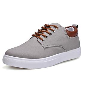 baratos Tênis Masculino-Homens Sapatos Confortáveis Camurça Primavera / Outono Tênis Botas Curtas / Ankle Vermelho / Azul / Khaki