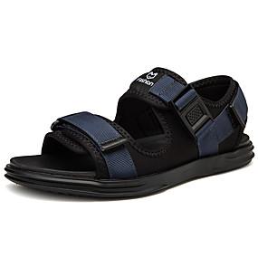 baratos Sandálias Masculinas-Homens Sapatos Confortáveis Com Transparência Verão Casual Sandálias Caminhada Respirável Preto / Azul / Cinzento