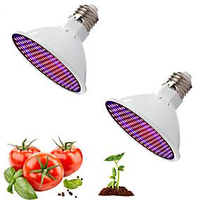 billiga LED Växtljus-2st rött och blått ljus samarbetslampa full spektrum ledde växttillväxt belysning fyll lätt grönsak blomkruka krukad cannabis inomhus uppfödning 20w ac85-265v