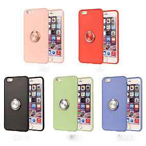 povoljno Telefoni i pribor-Θήκη Za Apple iPhone X / iPhone 8 Prsten držač Stražnja maska Jednobojni Mekano TPU za iPhone XS / iPhone XR / iPhone XS Max