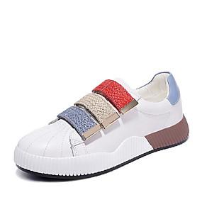 voordelige Damessneakers-Dames Sneakers Platte hak PU Lente & Herfst Blauw / Roze