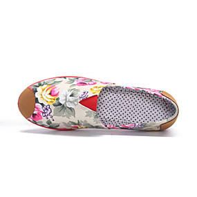 voordelige Damesinstappers & loafers-Dames Loafers & Slip-Ons Platte hak Ronde Teen Suède / Katoen Vintage Zomer Zwart / Roze