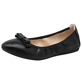 voordelige Damesschoenen met platte hak-Dames Platte schoenen Platte hak PU Lente zomer / Herfst winter Goud / Zwart / Zilver