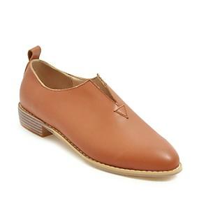 voordelige Damesinstappers & loafers-Dames Loafers & Slip-Ons Blok hiel Ronde Teen Microvezel Informeel / minimalisme Lente zomer Wit / Zwart / Geel