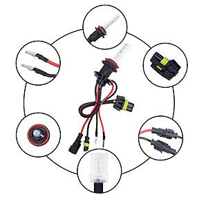abordables Nouvelles arrivées en août-2pcs / set 55w h11 / h8 / h9 caché kit de conversion ampoules de phare au xénon 3000-12000k pour voiture