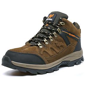baratos Sapatos Esportivos Masculinos-Homens Sapatos Confortáveis Pêlo Sintético / Couro Ecológico Outono / Inverno Esportivo / Clássico Tênis Aventura / Caminhada Manter Quente Verde Escuro / Marron