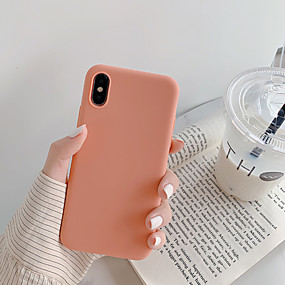 cheap Cool & Fashion Cases for iPhone-Case For Apple iPhone XS / iPhone XR / iPhone XS Max Dustproof / Ultra-thin Back Cover Solid Colored / Cartoon TPU