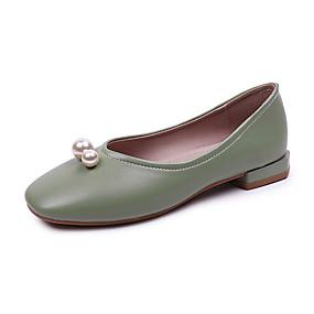 povoljno Udobne cipele-Žene Ravne cipele Blok pete PU Ljeto Bijela / Zelen / Badem
