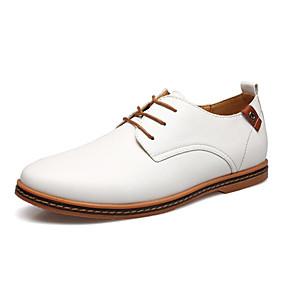 baratos Oxfords Masculinos-Homens Sapatos formais Couro Ecológico Primavera / Outono Oxfords Preto / Branco / Azul / Sapatos Confortáveis