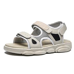 baratos Sandálias Masculinas-Homens Sapatos Confortáveis Com Transparência Verão Esportivo / Casual Sandálias Caminhada Respirável Branco / Preto / Bege