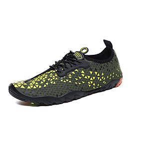 baratos Sapatos Esportivos Masculinos-Homens Sapatos Confortáveis Lona / Couro Envernizado Primavera Verão Esportivo Tênis Fitness Respirável Cinzento / Verde Tropa / Azul Real