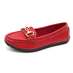 voordelige Damesinstappers & loafers-Dames Loafers & Slip-Ons Platte hak Gesloten teen PU Informeel Lente & Herfst Zwart / Wit / Rood