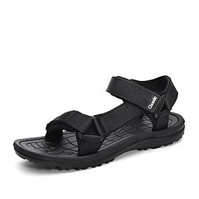 baratos Sandálias Masculinas-Homens Sapatos Confortáveis Tricô / Tecido elástico Verão Casual Sandálias Não escorregar Preto / Preto / Vermelho