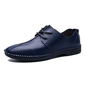 baratos Oxfords Masculinos-Homens Sapatos formais Couro Sintético Primavera Verão / Outono & inverno Negócio / Casual Oxfords Respirável Preto / Marron / Azul Escuro