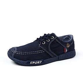 baratos Tênis Masculino-Homens Sapatos Confortáveis Jeans Primavera Verão / Outono & inverno Clássico / Casual Tênis Respirável Cinzento Escuro / Azul