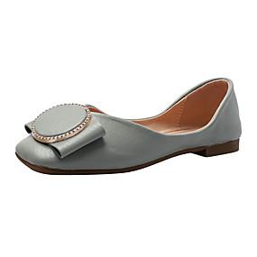 voordelige Damesschoenen met platte hak-Dames Platte schoenen Platte hak Gesloten teen PU Zomer Beige / Blauw / Roze