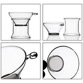 voordelige Koffie en Thee-Glas transparante Body 5 stuks Filters