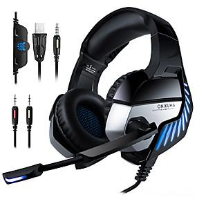 povoljno Igranje-slušalice s mikrofonom koji uklanja buku, LED svjetlo usb / 3.5mm za xbox ps4 pc itd.