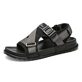 baratos Sandálias Masculinas-Homens Sapatos Confortáveis Com Transparência Verão Casual Sandálias Caminhada Respirável Botas Cano Médio Preto / Cinzento / Ao ar livre
