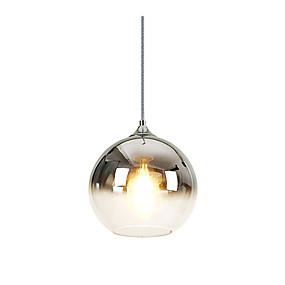 رخيصةأون أضواء السقف والمعلقات-كرة أضواء معلقة ضوء سفل مطلي زجاج زجاج 110-120V / 220-240V