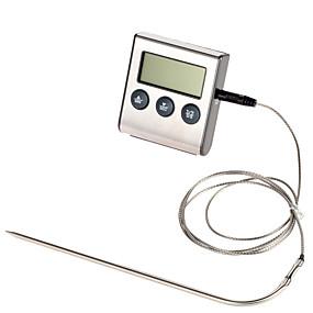 voordelige Super Korting-ts-bn50 digitale oven thermometer keuken koken voedsel vlees bbq sonde thermometer met timer watermelk temperatuur bakken tool