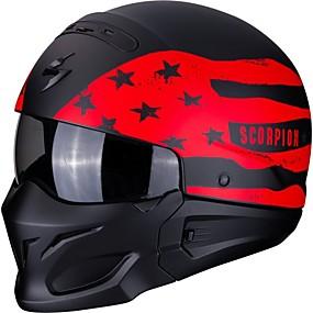 billige Nyankomne i august-skorpion full ansikt voksne unisex motorsykkelhjelm enkel påkledning / beste kvalitet / semi-avtagbart interiør