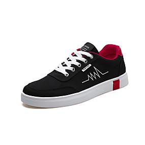 voordelige Damessneakers-Dames Sneakers Platte hak Ronde Teen Canvas Sportief Wandelen Zomer Grijs / zwart / wit / Zwart / Rood / Bruiloft / Feesten & Uitgaan
