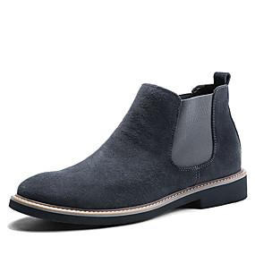 baratos Botas Masculinas-Homens Sapatos Confortáveis Camurça Outono & inverno Clássico / Formais Botas Caminhada Manter Quente Botas Cano Médio Preto / Azul / Cinzento / Ao ar livre / Fashion Boots