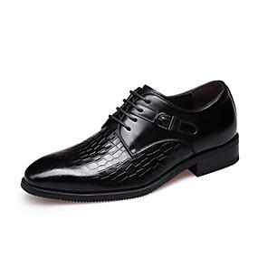 baratos Oxfords Masculinos-Homens Sapatos Confortáveis Couro Primavera / Outono & inverno Oxfords Preto / Marron