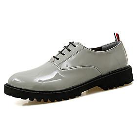 baratos Oxfords Masculinos-Homens Sapatos formais Microfibra Primavera Verão / Outono & inverno Negócio / Casual Oxfords Respirável Preto / Bege / Cinzento