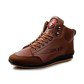 baratos Botas Masculinas-Homens Sapatos Confortáveis Couro Ecológico Verão Botas Botas Cano Médio Castanho Escuro / Azul / Marron