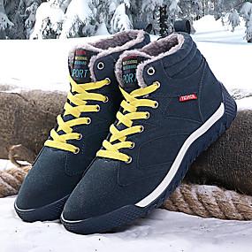 baratos Botas Masculinas-Homens Sapatos Confortáveis Camurça Inverno Esportivo / Casual Botas Caminhada Manter Quente Preto / Verde / Azul
