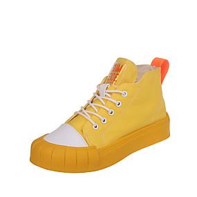 voordelige Damessneakers-Dames Sneakers Platte hak Ronde Teen Canvas Informeel Wandelen Lente & Herfst Geel / Groen / Beige