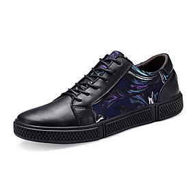 baratos Tênis Masculino-Homens Sapatos de couro Pele Primavera / Outono & inverno Formais / Colegial Tênis Caminhada Não escorregar Vermelho / Azul
