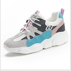 voordelige Damessneakers-Dames Sneakers Platte hak Ronde Teen Netstof / PU Zomer Oranje / Blauw