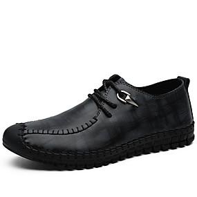 baratos Oxfords Masculinos-Homens Sapatos Confortáveis Couro Ecológico Verão Oxfords Preto / Azul / Cinzento / Ao ar livre
