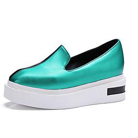 voordelige Damesinstappers & loafers-Dames Loafers & Slip-Ons Creepers Vierkante Teen PU Zoet Lente zomer Groen / Goud