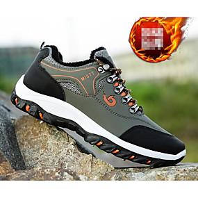 hesapli Erkek Atletik Ayakkabıları-Erkek Ayakkabı PU Sonbahar Atletik Ayakkabılar Dağ Yürüyüşü Atletik / Dış mekan için Siyah / Açık Yeşil / Sarı