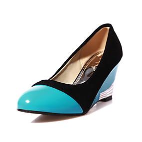 voordelige Damesinstappers & loafers-Dames Loafers & Slip-Ons Sleehak Gepuntte Teen Lakleer minimalisme Lente zomer Wit / Marine Blauw / Rood