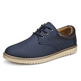 baratos Oxfords Masculinos-Homens Sapatos Confortáveis Microfibra Primavera Verão Formais Oxfords Use prova Preto / Marron / Azul Escuro