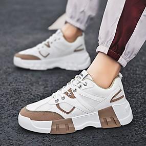 baratos Sapatos Esportivos Masculinos-Homens Sapatos Confortáveis Sintéticos Primavera Tênis Corrida Preto / Vermelho / Khaki